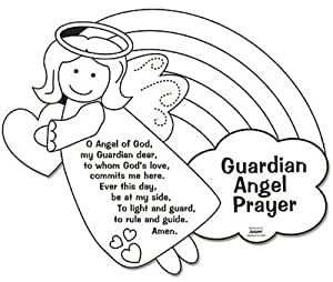 guardian angel prayer coloring pages   Amazon.com: Color Your Own Guardian Angel Prayers Arts ...