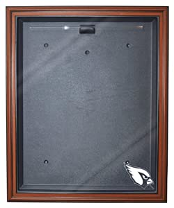 NFL Arizona Cardinals Cabinet Style Jersey Display, Brown by Caseworks