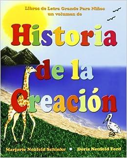 Historia de la Creación: Libros de Letra grande para Niños (Libros