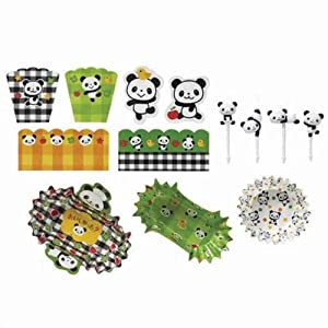 kawaii panda bear bento accessories kit for bento box kitchen home. Black Bedroom Furniture Sets. Home Design Ideas
