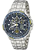 "Citizen Men's JY0040-59L ""Blue Angels Skyhawk A-T"" Stainless Steel Eco-Drive Watch"
