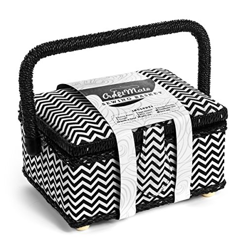 Modern Sewing Basket Kit Comes Complete with Everything You Need to Tackle the Most Complicated Sewing Projects - and Have ALL Your Accessories Right at Your Fingertips! (Sewing Basket With Supplies compare prices)