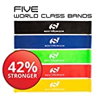 Best Resistance Bands Loop Set ● Resistance Bands For Legs ● Exercise Bands For Legs ● Physical Therapy Bands ● Great Equipment For Your CrossFit Workout ● Eco-Friendly 5 In 1 Strength Bands w/Carry Bag Makes the Perfect Travel Buddy for Men & Women ● Quality Laboratory Tested Stretch Bands for Knees & Legs