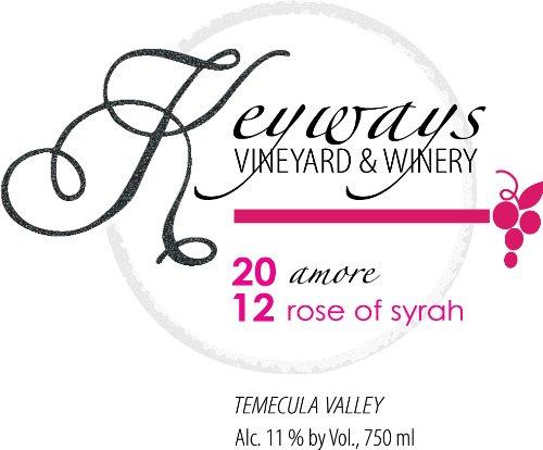 2012 Keyways Vineyard And Winery Rose Of Syrah, Temecula Valley 750 Ml