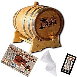 Personalized Tiki Bar (D) American Oak Aging Barrel - Design 050 (5 Liter)