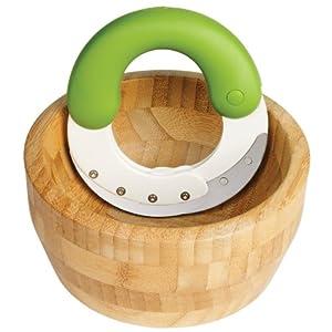 Chef'n Herb'n Shears Herb Chopper and Bamboo Bowl Set by Chef'n