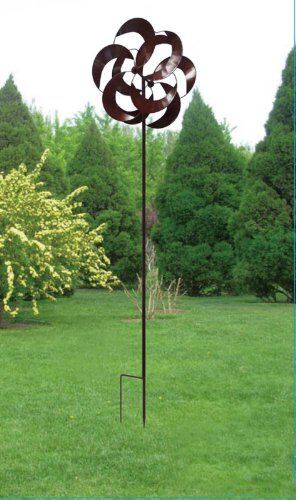 Kinetic-Wind-Sculpture-Modern-Art-Dual-Sun-Spinner-Metal-Garden-Outdoor-Pinwheel