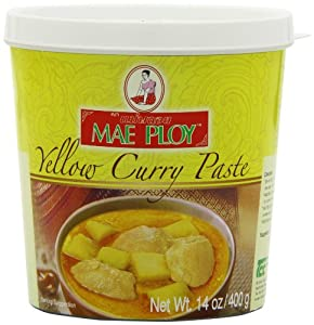 MAE PLOY Curry Paste, Yellow, Small, 14-Ounce (Pack of 4)