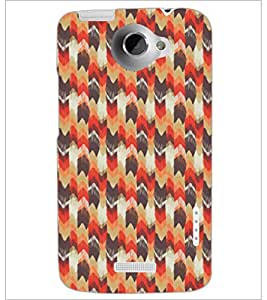 PrintDhaba Pattern D-5394 Back Case Cover for HTC ONE X (Multi-Coloured)