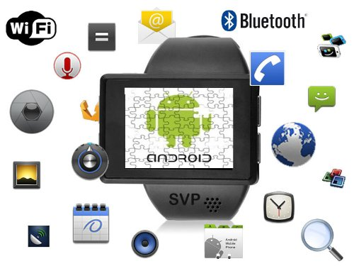 Svp® Smartwatch Android 2.2 Phone Bluetooth Gps - Z1 Black