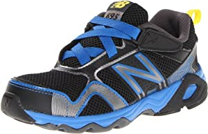 New Balance KV695 Youth Running Shoe (Little Kid/Big Kid),Black/Blue,12.5 M US Little Kid