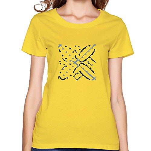 Art Affair Durable Women T-Shirt X-Small Yellow