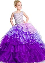 Aiduo Big Girls39 Organza Straps Pageant Dress Flower Dress Special Occasion