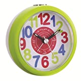 Kids Tell The Time Alarm Clock Finish: Green