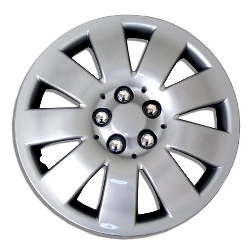 TuningPros WSC-721S16 Hubcaps Wheel Skin Cover 16-Inches Silver Set of 4 (2014 Nissan Rogue Hubcap compare prices)