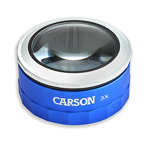 Carson MagniTouch 3x Touch Activated LED Lighted Stand Loupe Magnifier with Focusable Glass Lens For Reading, Low Vision, Hobby, Crafts, Stamps, Coins, Electronics and Inspection (MT-33) (Electronic Loupe compare prices)