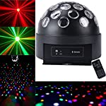 """1byone® Bluetooth Speaker 8.6"""" Circular Diso Light Super LED Dome Light, Digital Magic Ball Effect Lighting Laser Reflection Projector Light, Apply Lighting For DJ Disco House Party Hotel Stage Office Camping Field Music Concert Etc, Lighting For Hallowe"""