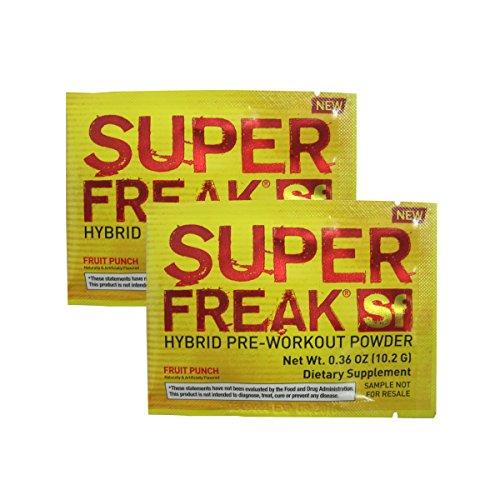 Super Freak By Pharmafreak, Sample Pack - Muscle Building Pre-Workout Powder: (2 Packets) (Fruit Punch)