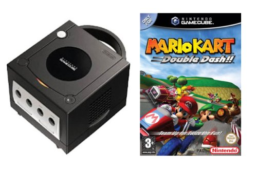 Black GameCube Console  &  Mario Kart: Double Dash Pak