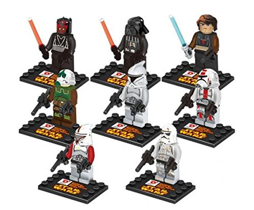 Star Wars Series Minifigures Building Block Toys Compatible With Lego 8 Pcs Set # sws018