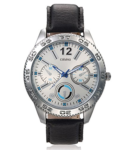 Calvino Calvino Men's White Dial Watch CGAS-151480_BLK-WHT (Multicolor)