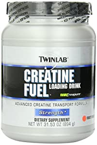 Twinlab Dietary Supplement, Creatine Fuel Loading Drink, Fruit Punch, 31.53 Ounce