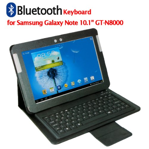 Samsung Galaxy Note 10.1″ GT-N8000 Wireless Bluetooth Leather Case Keyboard