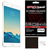 [2 Pack] TECHGEAR® Apple iPad Mini 3 / Mini 2 / Mini CLEAR Screen Protector Guard Covers with Cloth & App Card - for 1st, 2nd & 3rd Generation iPad Mini