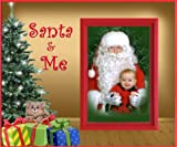 Santa and Me (Kitten) Christmas Picture Frame Gift