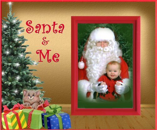 Santa and Me (Kitten) Christmas Picture Frame Gift - 1