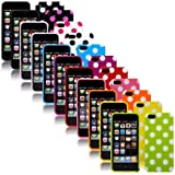 Fashion Polka Dot Flex Gel TPU Skin Case for New Iphone 5 5g 5th
