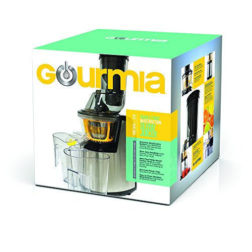 Gourmia GSJ300 Electric Masticating Wide Mouth Whole Fruit and vegetable Slow Juicer - Stainless ...