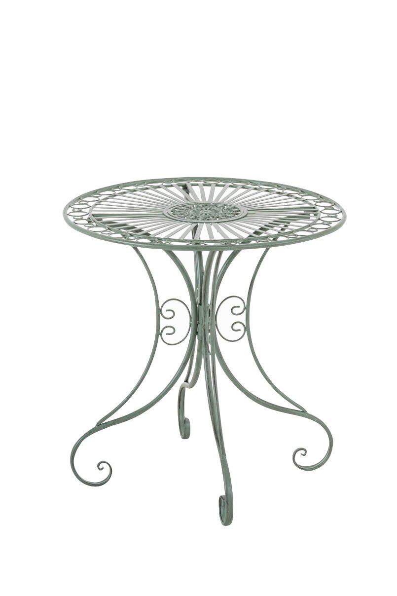 CLP handgefertigter runder Design Eisentisch HARI in nostalgischem Design, Durchmesser Ø 70 cm (aus bis zu 6 Farben wählen) antik grün günstig kaufen