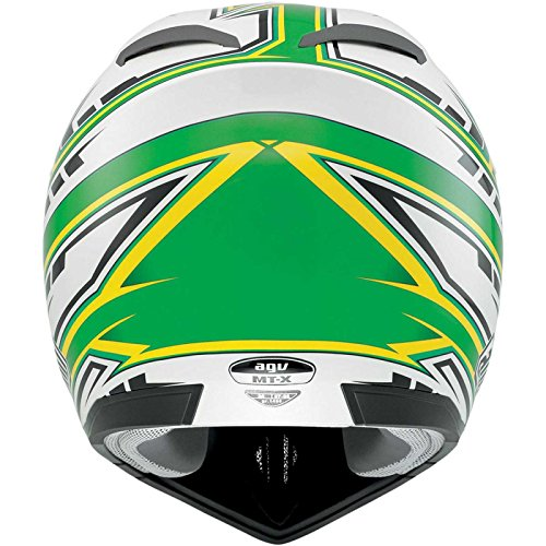AGV MT-X Point Helmet , Gender: Mens/Unisex, Helmet Category: Offroad, Helmet Type: Offroad Helmets, Primary Color: Green, Size: 2XL, Distinct Name: White/Green 902152A0016011