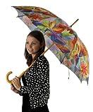 April Showers Auto Open Umbrella Collection, Bird of Paradise Print