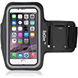 EnGive Protective iPhone 6 Armband - Fully Adjustable Size Lightweight Armband Case with Key Holder for Gym Jogging Running Walking and Other Sports - Black