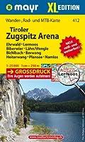 Tiroler Zugspitz Arena XL - Ehrwald - Lermoos - Biberwier - Lähn/Wengle - Bichlbach - Berwang - Heiterwang - Plansee - Namlos 1 : 25 000: Wander-, Rad- und Mountainbikekarte. GPS-genau