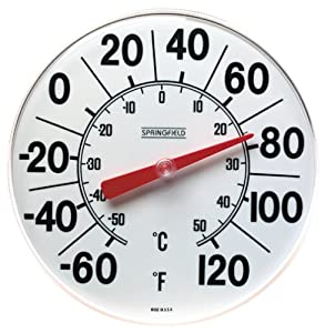 Springfield Indoor/Outdoor Thermometer (8-inch) by Taylor Precision Products