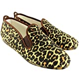 Womens Kung-Fu Flossy Ezcaray Leopard Print Slip On Espadrille Flat Shoes - Leopard - 3