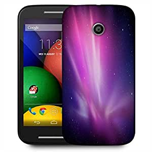 Snoogg Galaxy Designer Protective Phone Back Case Cover For Motorola E / Moto E