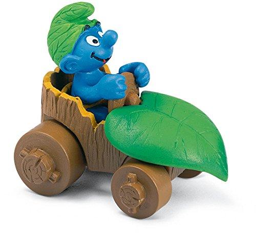 Schleich Smurf in Car Toy Figure - 1