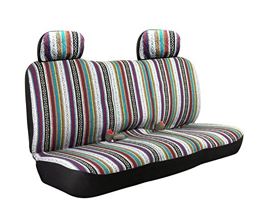 Saddle Blanket WEAVE Baja Inca Bench Seat Cover Full Size Car Truck Suv Standard Fit With Headrest (Vintage Seat Covers compare prices)