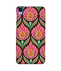 Flower India Back Cover Case for HTC Desire 820