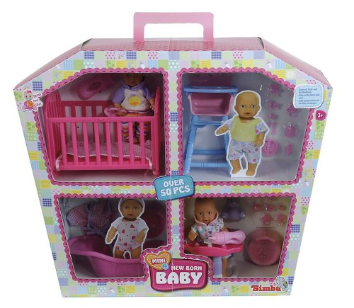 Simba Toys 105033388 - Mini new born Baby-Puppe,