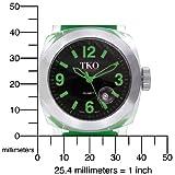TKO ORLOGI Unisex TK548-GGR Milano Remixed Plastic Case and Green Rubber Strap Watch
