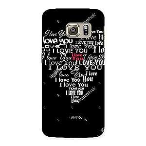 Ajay Enterprises Heart Love Type Back Case Cover for Samsung Galaxy S6 Edge