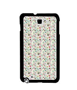 Fuson Premium Valentines Gift Metal Printed with Hard Plastic Back Case Cover for Samsung Galaxy Note 1 N7000 i9220
