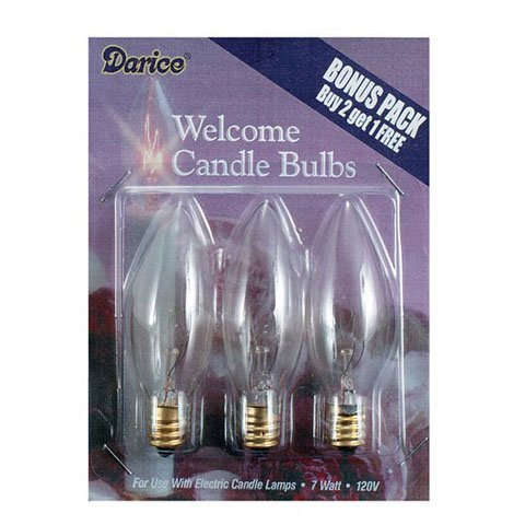 Bulk Buy: Darice Diy Crafts Electric Candle Bulbs 7 Watts 3 Pieces (6-Pack) 6201-10