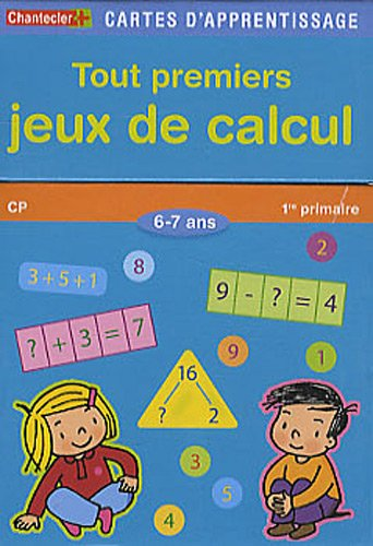 tout premiers jeux de calcul 6 7 ans cp chantecler cp maths primaire paras ebay. Black Bedroom Furniture Sets. Home Design Ideas