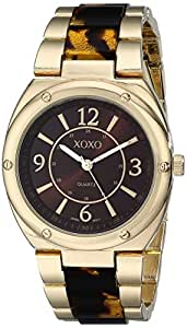 Xoxo women 39 s xo5639 gold and tortoise bracelet watch watches for Watches xoxo
